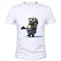 Minions Zombie Personality T Shirt New Style Boys Summer T Shirt Minions Clothing Top Print Tshirt