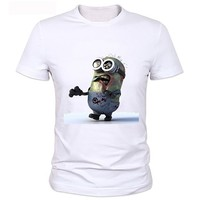 Minions Zombie Personality T Shirt New Style Boys Summer T Shirt Minions Clothing Top Print Tshirt