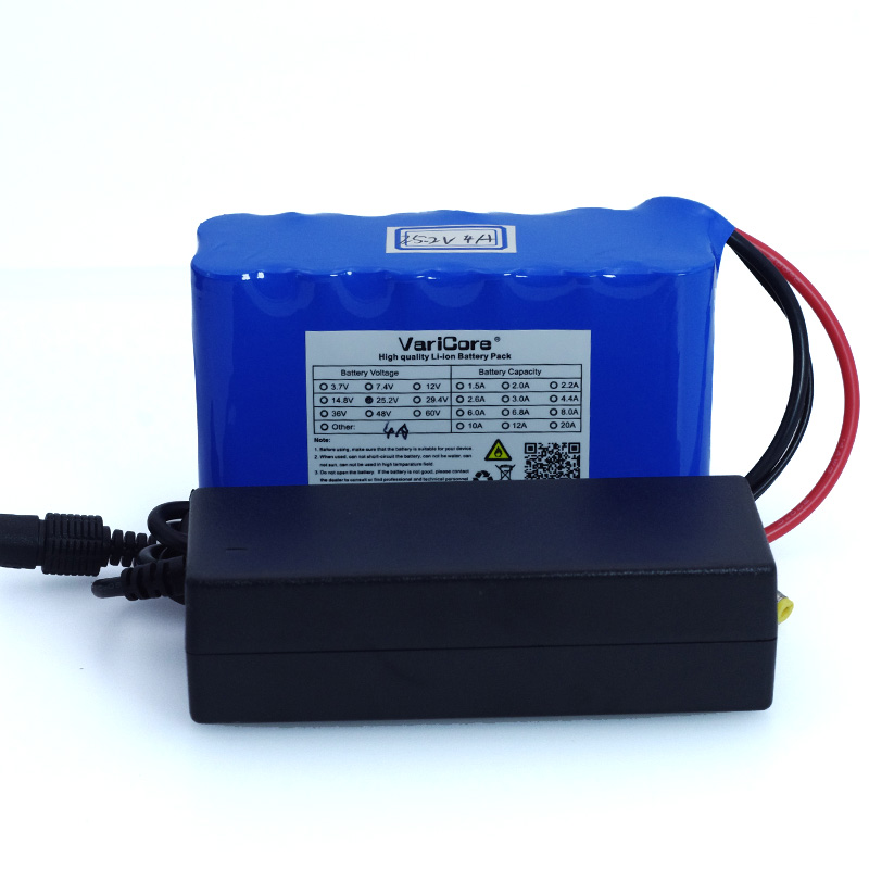 <font><b>24V</b></font> <font><b>4Ah</b></font> 6S2P 18650 li-ion <font><b>battery</b></font> 25.2 v 4000 mah Moped Electric / Electric Bicycle / Lithium-Ion <font><b>Battery</b></font> <font><b>Battery</b></font> Charger + 1A image