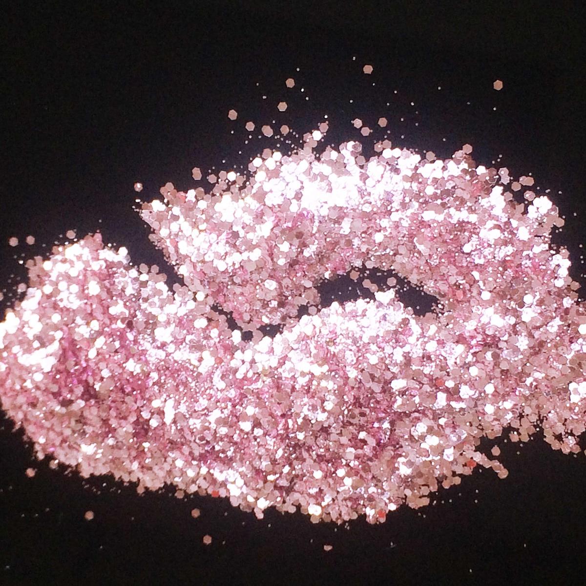 Pearl Pink Glitter Mix Size Nail Art Glitter Powder Hexagon Flakes UV Nail Glitter Powder Acrylic 3D Nail Dust Sequins rhombus star dot silver sequins сияющие хлопья украшение charm nail glitter пайетт декор макияж аксессуары