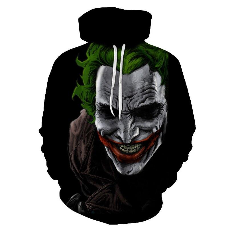 Hoodies & Sweatshirts Discreet New Movie It Pennywise Clown Stephen King 3d Print Hoodies Horror Movie Hoody Sweatshirt Cosplay Sportswear Tracksuit