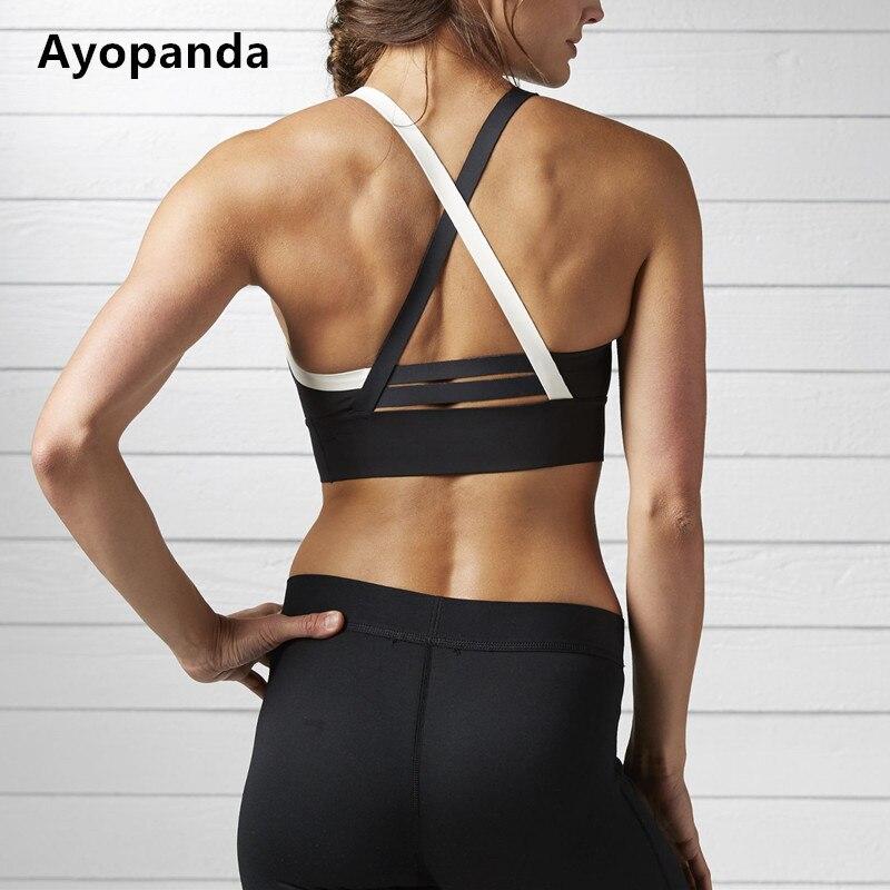 3fb0af0de8 Ayopanda New Cardio Padded Sports Bra Sweat Wicking Breathable Fitness  Sport Yoga Top Medium impact Crisscross Strap Workout Bra-in Sports Bras  from Sports ...