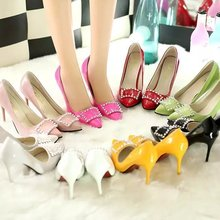 8 Color 2016 Paris Sexy Women High Heels Pumps Europe and The United States Pointed High-heeled Shoes OL Work Shoes for Women
