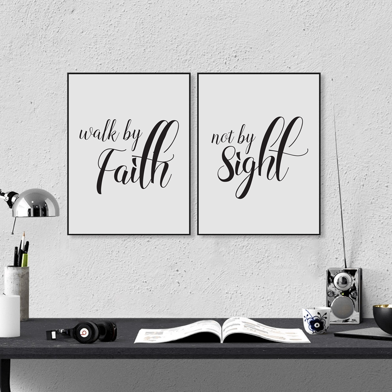 Love Never Fails Christian Prints Poster Bible Verse Canvas Painting For Home Living Room Wall