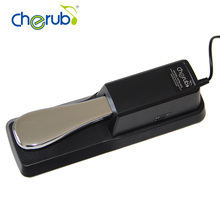 New Cherub WTB-005 Black Electric Portable Damper Sustain Metal Pedal For HMY Piano Yamaha For Casio Keyboard Sustain Ped