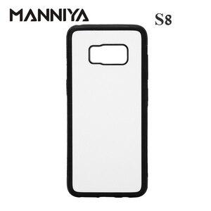 Image 1 - MANNIYA 2D Sublimazione in bianco TPU + PC della Cassa della gomma per Samsung Galaxy S8/S8 + con Inserti In Alluminio di Trasporto trasporto libero! 50 pz/lotto