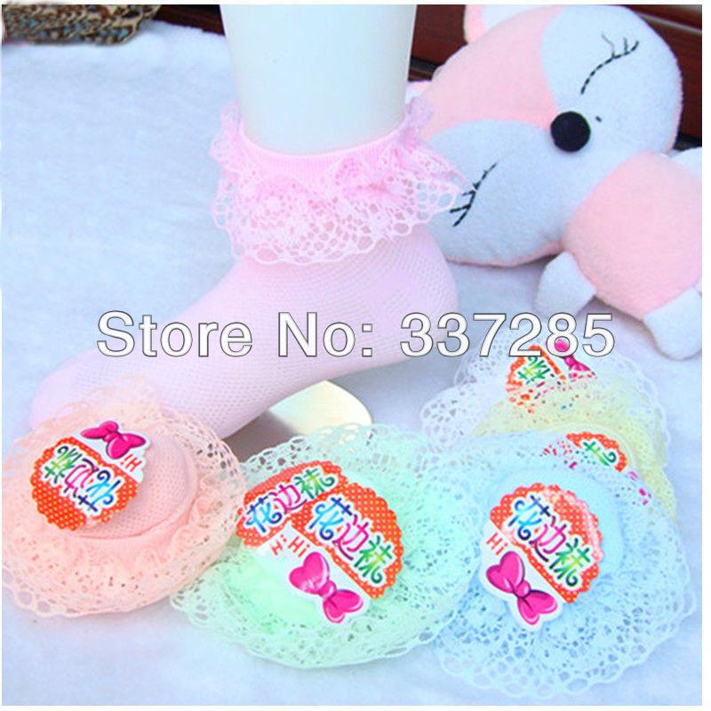 00d811f24 Calcetines del bebé del cordón malla de ventilación en los niños en el  verano de fina calcetines Medias calcetines para princesa Girls color lindo  ...