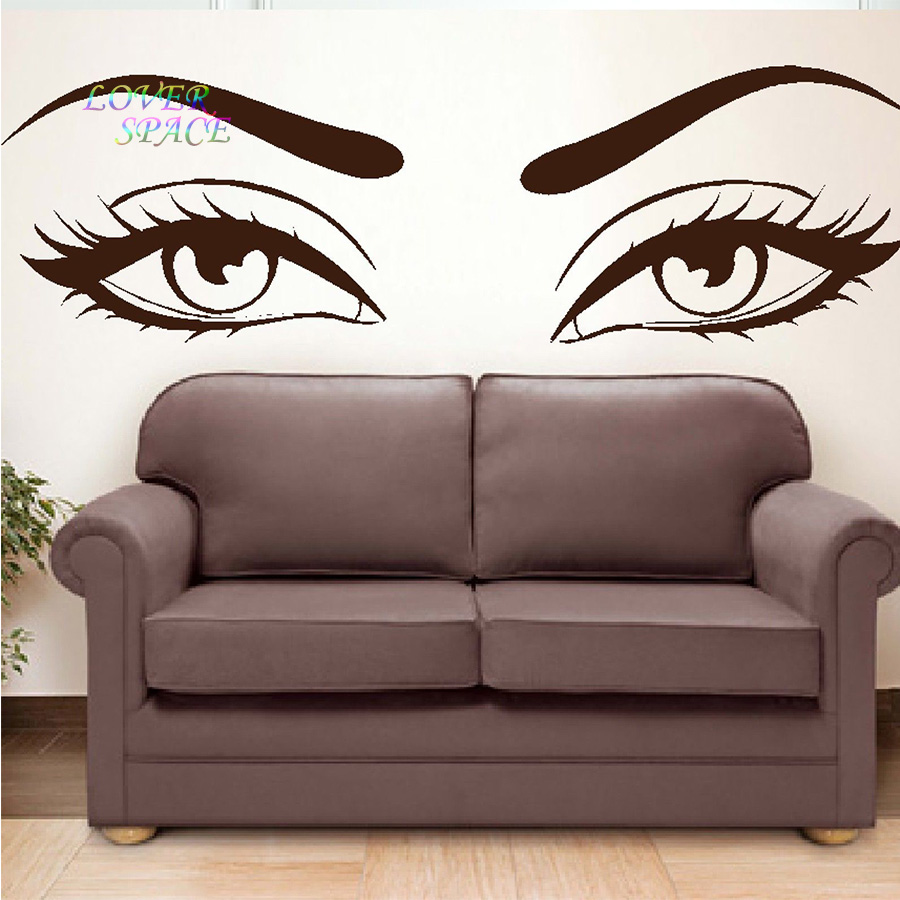 Sexy eyes wall stickers wow modern beauty salon valentine wall sexy eyes wall stickers wow modern beauty salon valentine wall decoration sticker gift home decorative wall decals art wallpaper in wall stickers from home amipublicfo Images