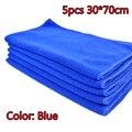 5pcs 30*70cm Soft Microfiber Cleaning Towel Car Auto Wash Dry Clean Polish Cloth