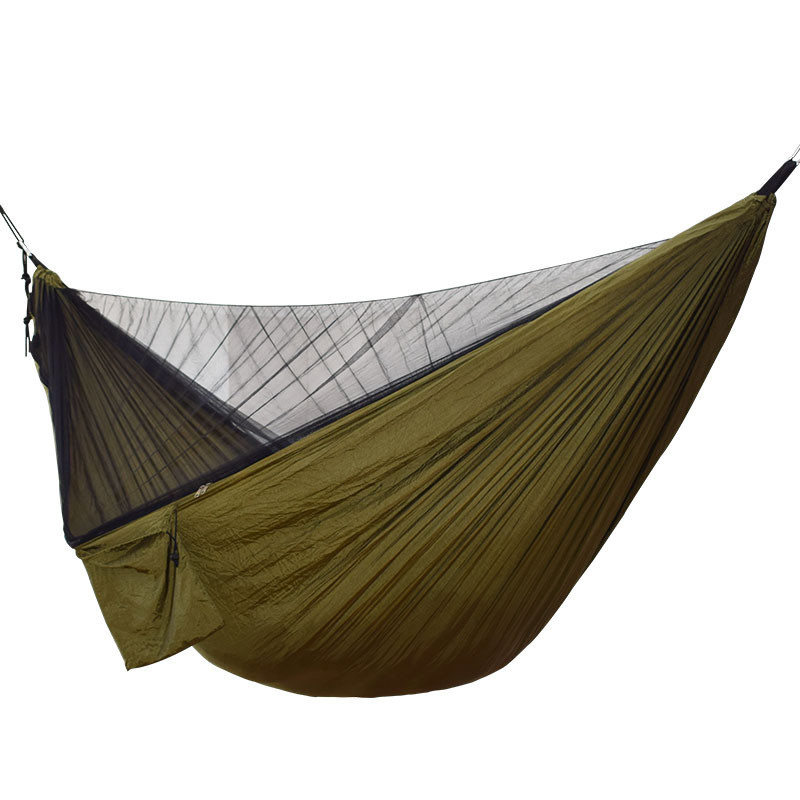 Image 5 - Ulatralight Double Mosquito Net Hammock Easy Set Up Hamak 290*140cm With Wind Rope Nails Portable For Camping Travel Yard-in Hammocks from Furniture