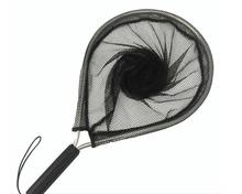 None Ultralight Aluminum Alloy Fishing Net Polyester Mesh with Ergonomic Handle Portable Hand Dip Net Tackle Tools