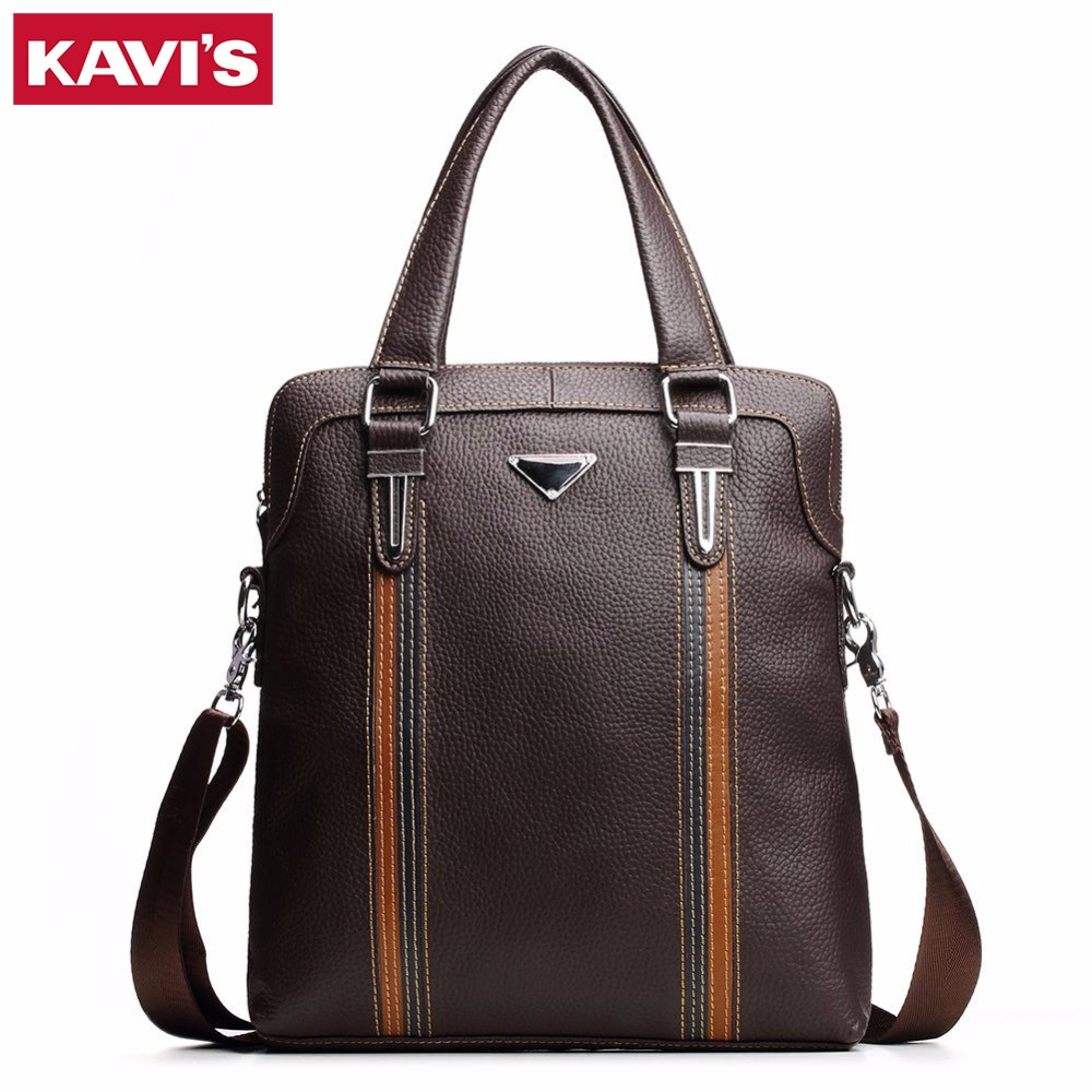 KAVIS 2017 Genuine Leather bag Business Men bags Laptop Tote Briefcases Male Crossbody bags Shoulder Handbag Men's Messenger Bag joyir genuine leather bag crossbody bags shoulder handbag men s messenger bag business men bags laptop tote briefcases b350