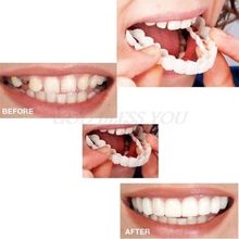 Upper False Fake Tooth Cover Snap On Instant Perfect Smile Cosmetic Denture Care Drop Shipping