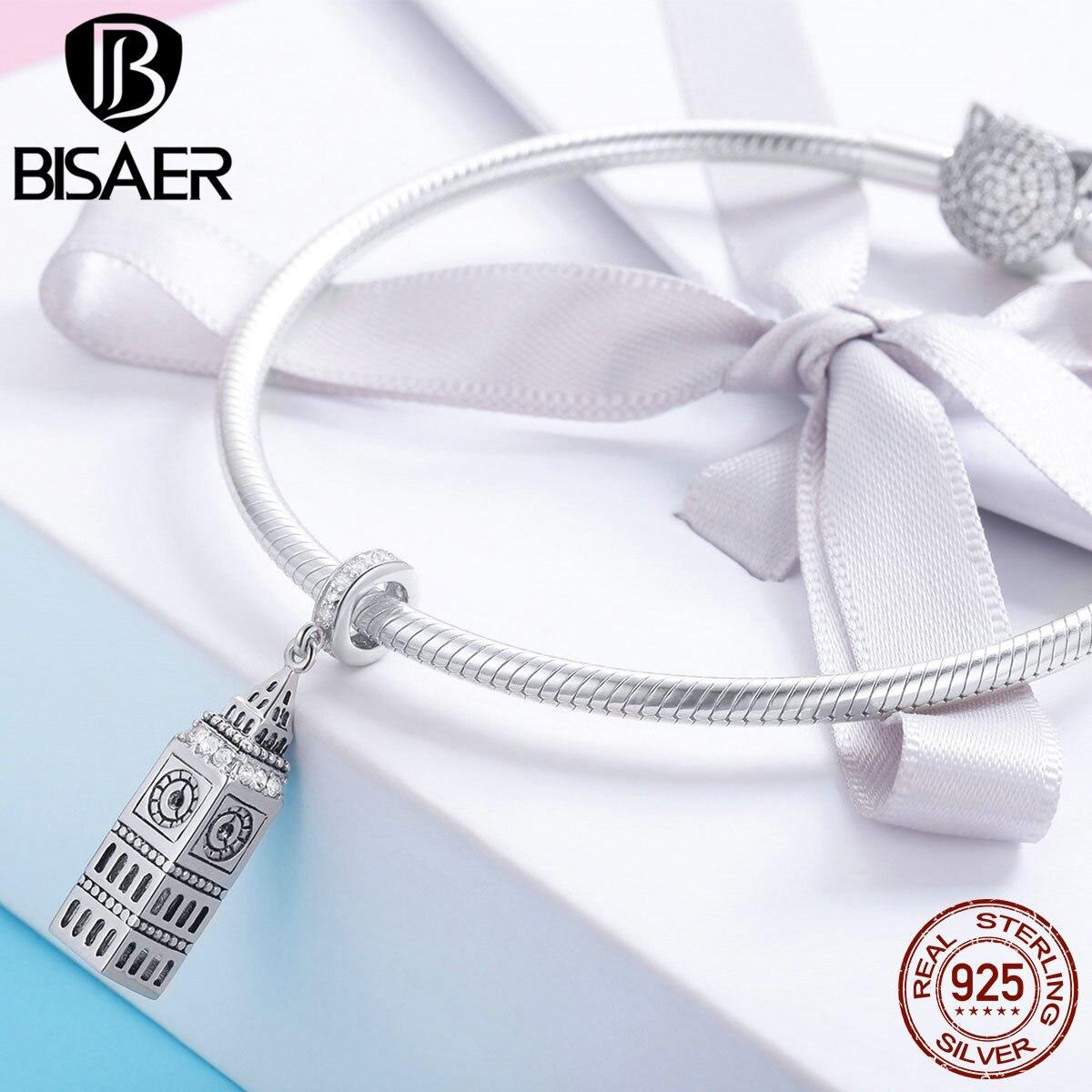 London Tower /_ Bead pour Argent Chaîne Européenne Bracelet Breloque /_ Big Ben Angleterre UK