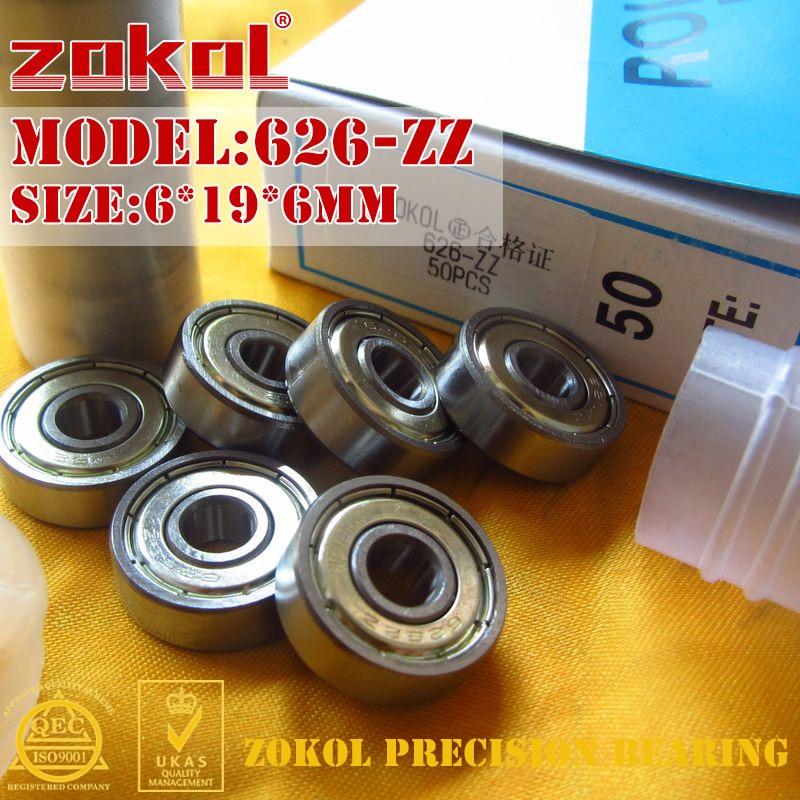 где купить ZOKOL 626ZZ bearing 626 ZZ Miniature  626-ZZ Deep Groove ball bearing 6*19*6mm дешево