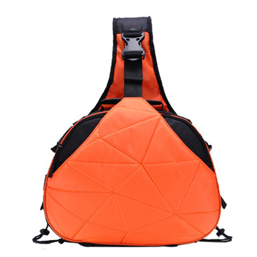 Waterproof Travel Small DSLR Shoulder Camera Bag with Rain Cover Triangle Sling Bag for Sony Nikon Canon Digital Camera