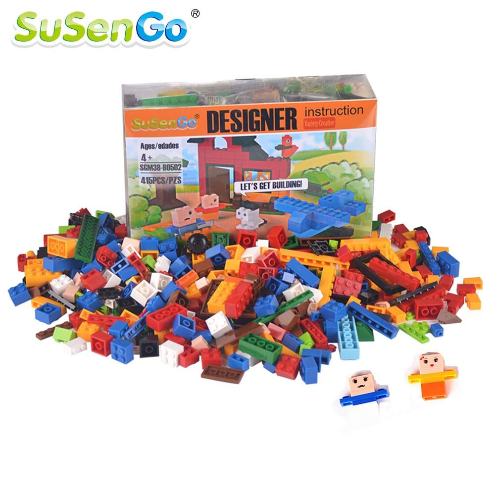 SuSenGo Building Blocks Model Kit 415 Pieces DIY Creative Bricks Toys for Children Educational Toy Gift Compatible with Lepin susengo brazil world cup football soccer stadium building blocks bricks 3d diy kids gifts toy compatible with lepin