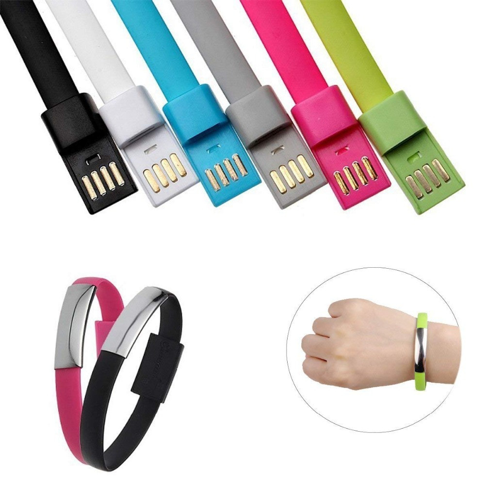 Micro USB Cable Bracelet Charger Charging for iPhone X 8 7 6s Samsung Android Type-C Phone Quick Cord