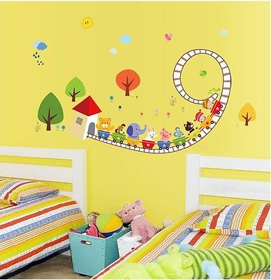 inal train wall decals vinyl sticker boy nursery kids decal bedroom