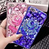 For IPhone 5 5S 6 6S 7 Plus Luxury Flower Fashion Glitter Diamond Crystal Rhinestone Phone