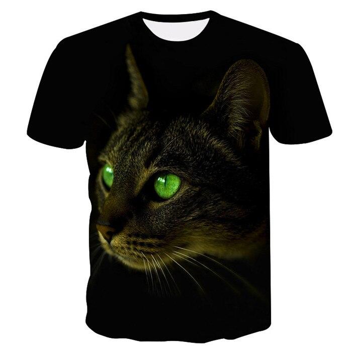 Новинка, футболка для мужчин/женщин, 3d принт, мяу, черный, белый, кот, хип-хоп, Мультяшные футболки, летние топы, футболки, модные 3d футболки, M-5XL - Цвет: txu-161