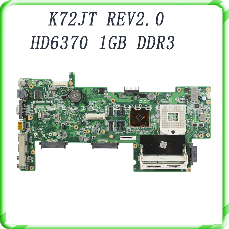HOT selling K72JU K72JT laptop Motherboard for X72J mainboard HM55 HD6370M REV2.0 1GB DDR3 216-0774211 fully tested 100% ju m chrysanthemum tea herbal tea stone ju m premium ju m 50g