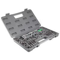 40 stks Verstelbare Metric Tap Sterven Set Top Kwaliteit Legering Staal Tap Metric Houder Draad Gauge Wrench Tool Set met Plastic Case