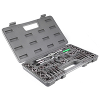 40pcs Adjustable Metric Tap Die Holder Thread Gauge Wrench Tool Set T handle Tap Holder with Plastic Case For Threading Repair