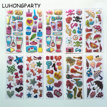 3 sheets Star Crown Bottle Paper Sticker Decoration Decal DIY Album Scrapbooking Seal Kawaii Stationery Gift