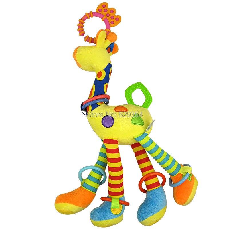 BB- ի զանգը թղթե Baby Teether Խաղալիքային ընձուղտ մանկական խաղալիքներ մեծ զբոսնող է կախված մահճակալից կախած ճոճանակներով