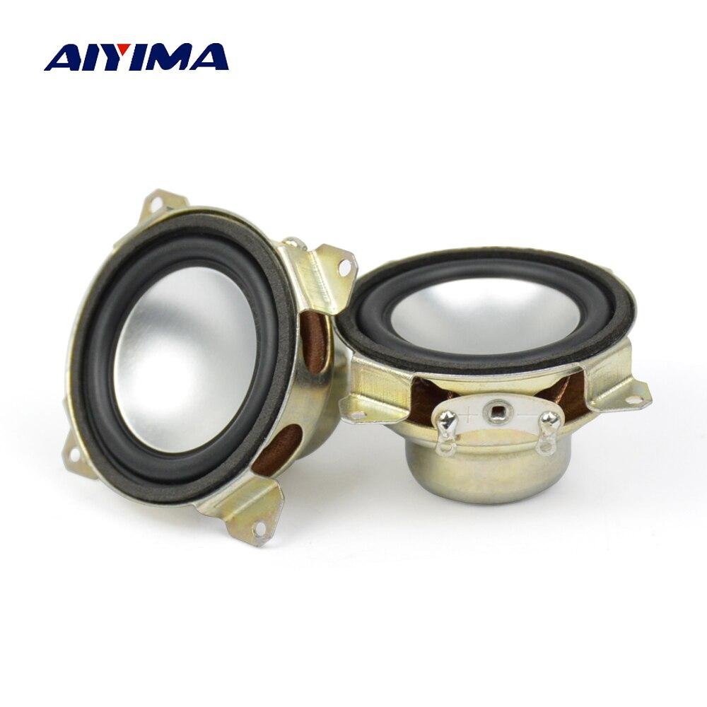 Aiyima 2PC 1.5 Inch Full Range Speaker 8Ohm 2W Neodymium Magnet Portable Audio Speaker For Satellites Column Loudpeaker