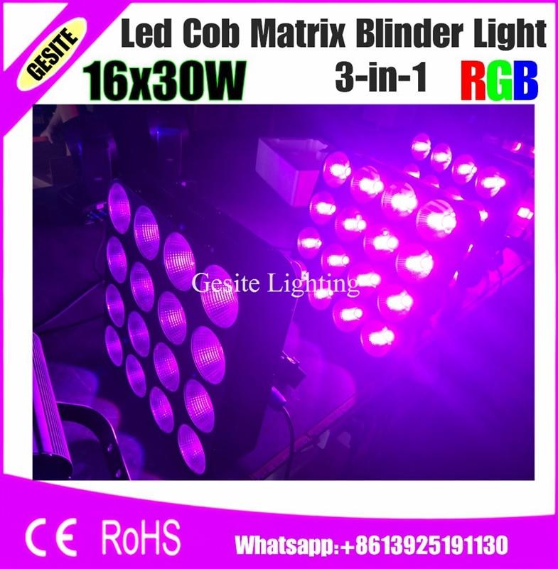 цена на 2pcs/lot 16 Heads LED Pixel Blinder Slim 3in1 Matrix night club disco dj lights