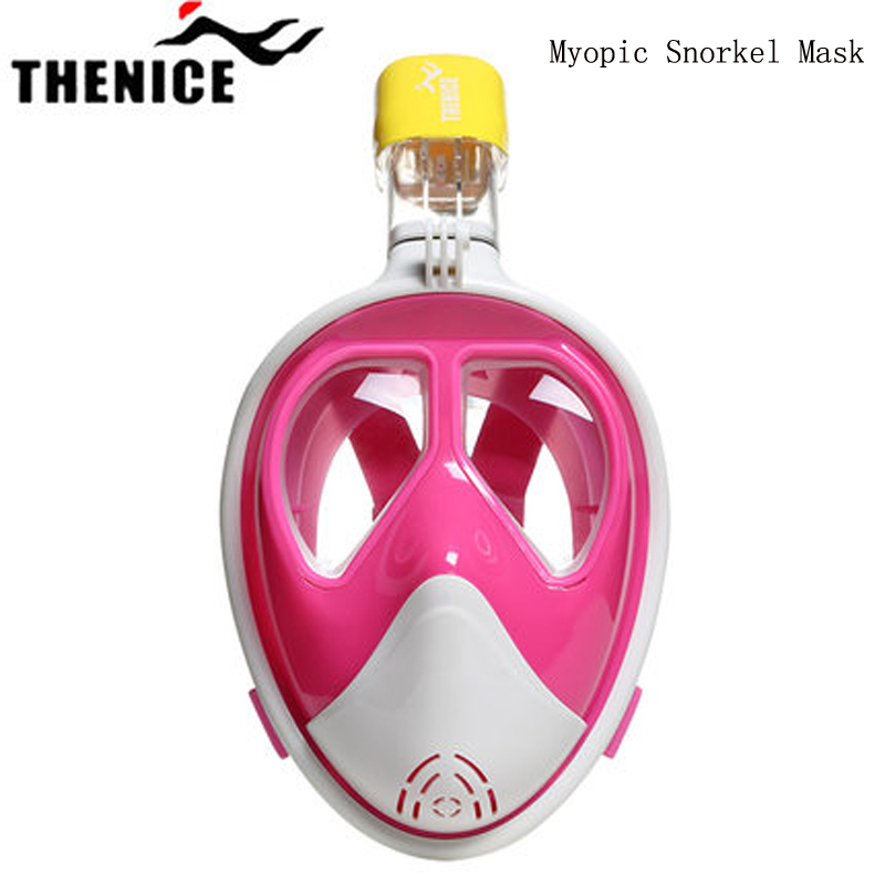 Underwater Myopia Diving Mask Adult Anti Fog Snorkel Mask Scuba Mergulho Full Face Snorkeling Maske Diving Equipments Aqualung full face snorkeling mask scuba diving mask anti fog underwater snorkel set anti skid ring swimming accessories aqualung
