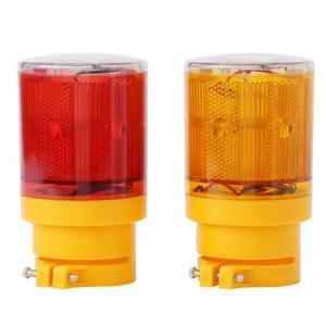 Image 2 - Rouge jaune voyant solaire LED bateau lumière Navigation durgence Flash lumière bateau alarme lampe pour avertissement de route de la circulation