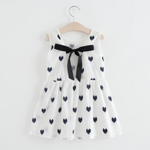 Baby girls clothes Dresses 2019 Kids Girl Sleeveless Print Cotton Dress Baby Girl Summer kids dresses dropshipping(China)