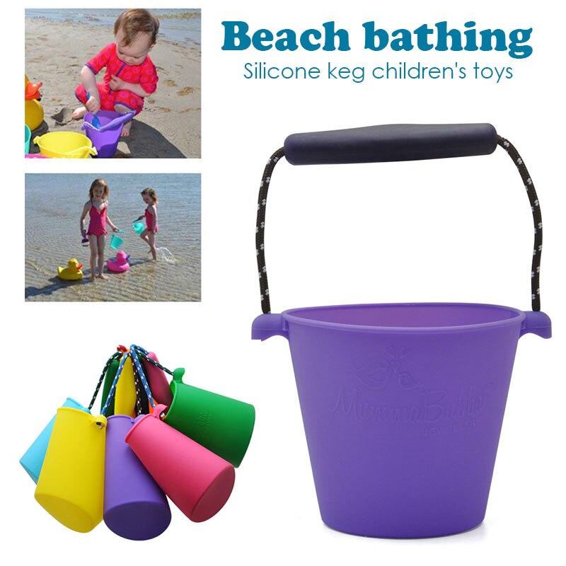 Пляжный набор игрушек для детей силиконовые складные Ручные игры песочный баррель детские игрушки для малышей душевая Ванна игрушка песочные водяные игрушки