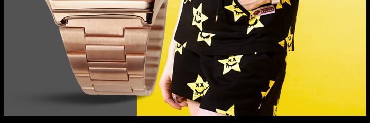 digital masculino relojes relógio moda aço inoxidável