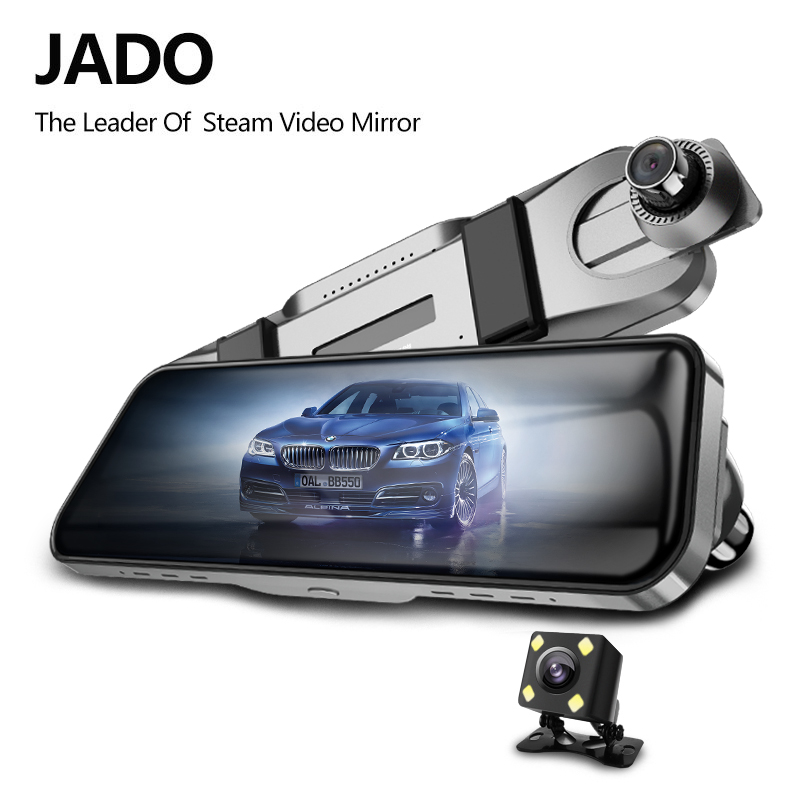 JADO D820s X4 Car Dvr Stream RearView Mirror dash Camera avtoregistrator 10 IPS Touch Screen Full