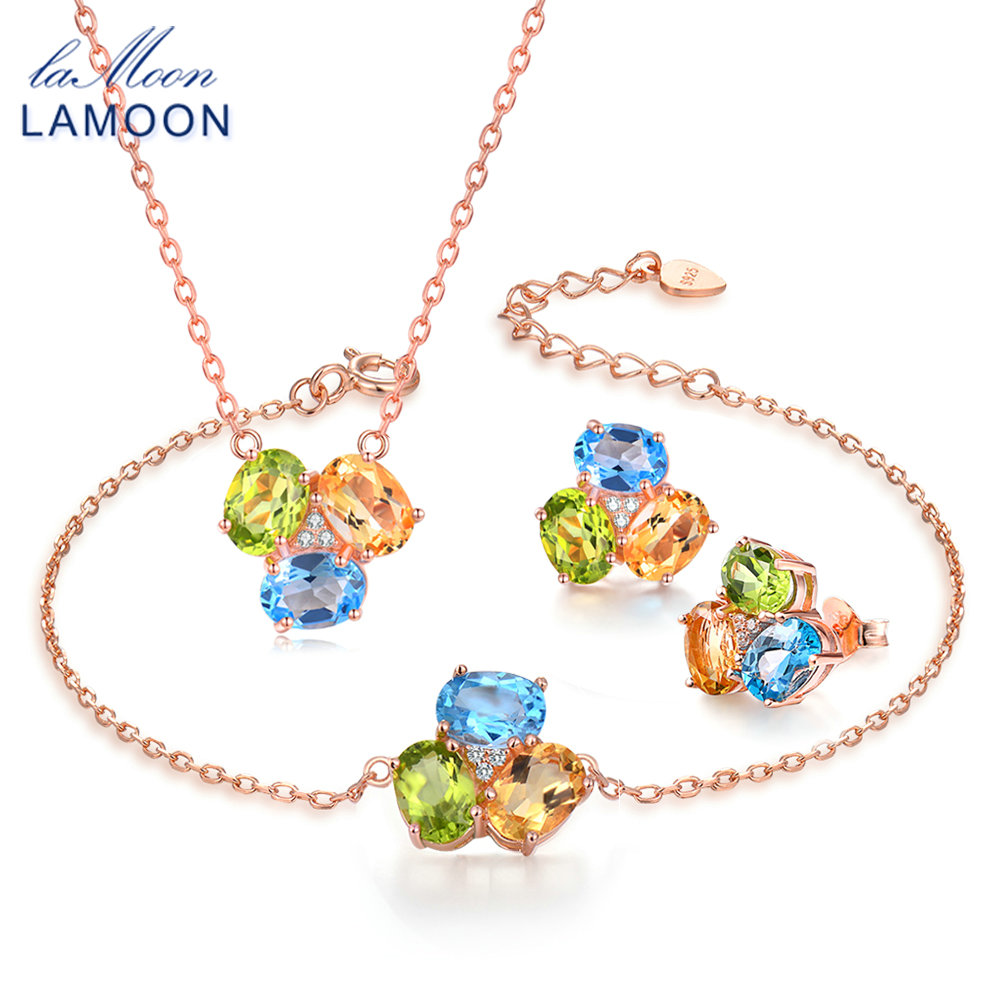 LAMOON 100% 925-Sterling-Silver 3PCS Jewelry Sets For Women Natural Citrine Peridot Topaz S925 Fine Jewelry For Women V003-4LAMOON 100% 925-Sterling-Silver 3PCS Jewelry Sets For Women Natural Citrine Peridot Topaz S925 Fine Jewelry For Women V003-4