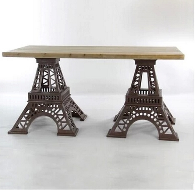 Bon The New American Style Loft Industrial Wind Eiffel Tower Restaurant Dining  Tables Coffee Tables Child Work