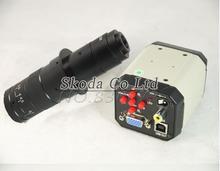 2.0MP HD 3 in1 Цифровой Микроскоп Промышленности Промышленная Камера Лупа VGA USB AV TV Выходы + 180X увеличить с-крепление Объектива C-mount Объектив