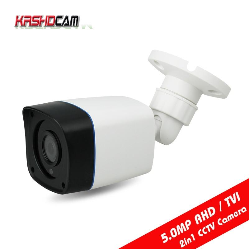 KRSHDCAM CCTV Security 5.0MP AHD Camera 4 in 1 bullet Camera 3.6mm lens Waterproof IP66 Outdoor Video Surveillance Night VisionKRSHDCAM CCTV Security 5.0MP AHD Camera 4 in 1 bullet Camera 3.6mm lens Waterproof IP66 Outdoor Video Surveillance Night Vision
