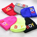 Boy Knitted Hat Ski Cap Lovely Candy Color Baby Hat Accessories
