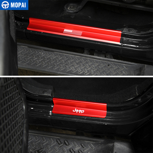 Image 3 - MOPAI New Style USA Flag Logo Skull Door Sill Scuff Plate Protector Welcome Pedal for Jeep Wrangler JK 2007 2016 Car Styling