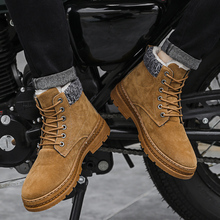 Mens Winter Shoes High Top Boots Ankle Lace Up Plush Warm Sn