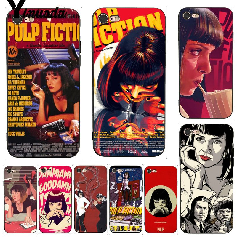 Yinuoda For iphone 7 6 X Case PULP FICTION MOVIE POSTER Luxury phone case for iPhone X 8 7 6 6S Plus X XS XR XSMAX 11pro MAX image