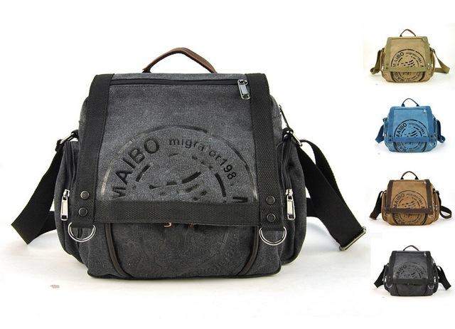d07c20815700 Men Women Canvas Messenger Shoulder Cross Body Laptop Bag Casual Fashion  Satchel Back To School Book