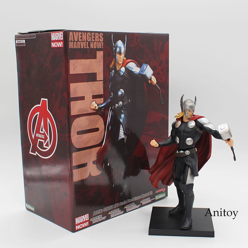 ARTFX + STATUE Marvel Thor 1/10 Scale Pre-Painted Model Kit Figure Collectible Toy 21cm KT3779 artfx statue dc super hero red robin 1 10 scale pre painted figure collectible model toy