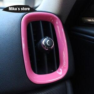 Image 5 - Auto Adesivo Interior Centro Console Caso Capa Da Shift de Engrenagem Decoração Etiqueta Para mini cooper Countryman F60 Car styling 9PCS