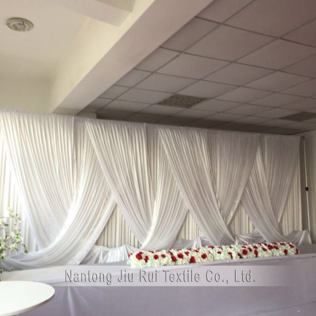2018 new design arriaval white wedding backdrop nomantic swag drapes 2018 new design arriaval white wedding backdrop nomantic swag drapes for 3mx6m curtain wedding decoration party junglespirit Images